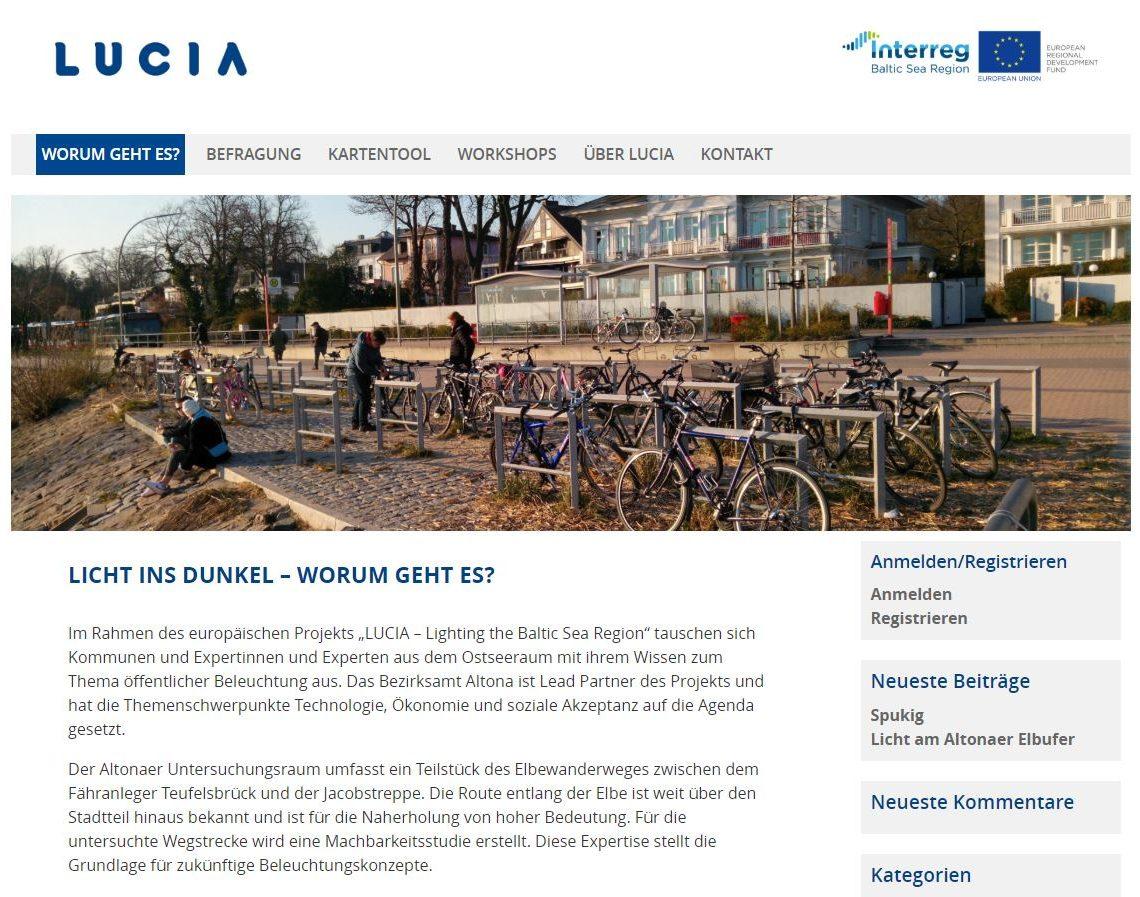 Screenshot Of The Participation Platform For Hamburg
